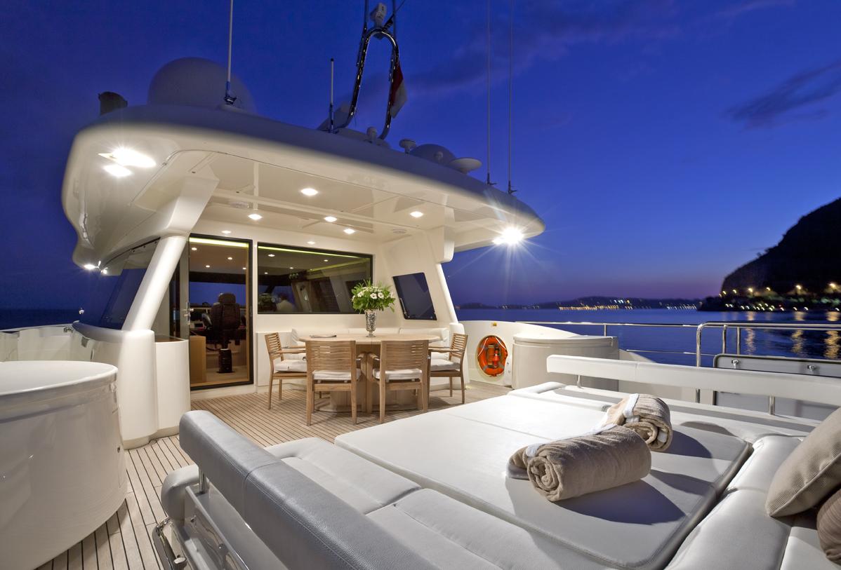 Yacht di lusso ferretti la pausa am charter for Cabine invernali di lusso