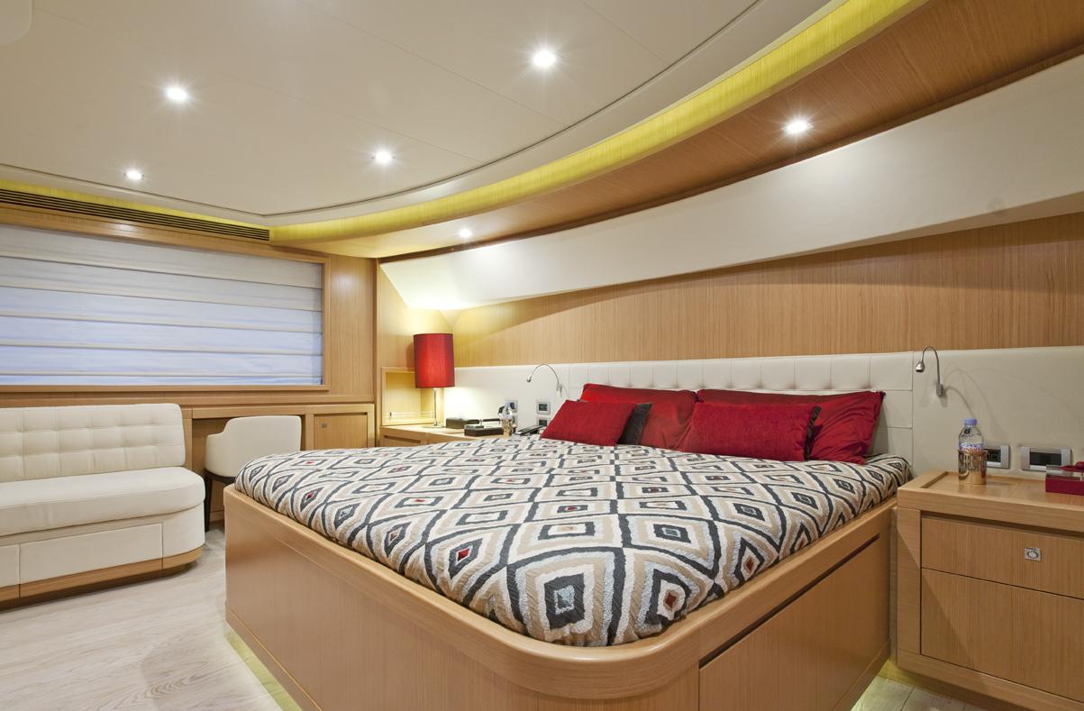 Yacht di lusso ferretti la pausa am charter for Cabine di lusso gigantesche